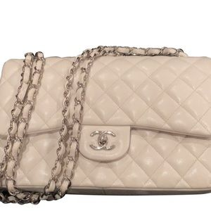 Authentic Chanel Caviar Jumbo Classic Bag